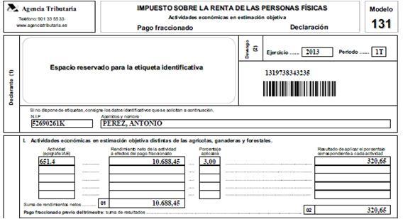 La decisi n fiscal para el aut nomo m dulos o estimaci n for Modelo nomina autonomo